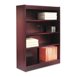 Alera - Alera BCS44836MY Square Corner Wood Veneer Bookcase - Mahogany Brown - ALEBCS448 - Shop for Bookcases from Hayneedle.com! About AleraWith the goal of meeting the needs of all offices -- big or small casual or serious -- Alera offers an excellent line of furnishings that you'll love to see Monday through Friday. Alera is committed to quality innovative design precision styling and premium ergonomics ensuring consistent satisfaction.