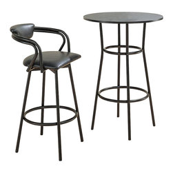 Coaster - Coaster Dixie 3 Piece Bar Table and Stool Set - Coaster - Pub Sets - 238323873PKG