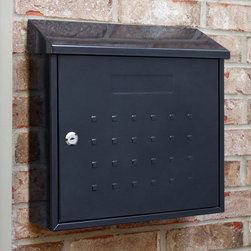 Samai Maxi Locking Wall-Mount Mailbox - This Samai Maxi Locking Wall-Mount Mailbox will enhance your outdoor decor with its raised square design. It features a larger width size for your mail needs and provides a lock for security purposes.