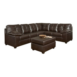 Chelsea Home Furniture - Chelsea Home Tamera 2-Piece Sectional in Ty Chocolate - Tamera 2-Piece Sectional in Ty Chocolate belongs to the Chelsea Home Furniture collection