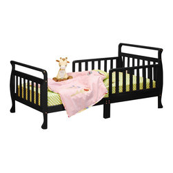 AFG Baby - AFG Baby Anna Toddler Bed in Black - The Anna Wooden Toddler Bed has beautifully finished hardwood and an elegant sleigh design. The bed is equipped with two guardrails to facilitate easy access and prevent your child from falling out.