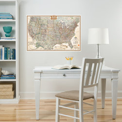 New for Back to School & Dorm Room Decor - Map of the USA National Geographic dry-erase map decal New for Back to School & Dorm Room Decor