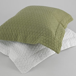 Traditions by Pamela Kline - Traditions Linens Tracey Standard Pillow Sham - 371808800013 - Shop for Pillowcases and Shams from Hayneedle.com! Featuring a bubbled-texture design the super-soft Traditions Linens Tracey Standard Pillow Sham is the perfect addition to your bed set. Available in lively colors this standard sham is perfect to rest your head on after a long day. Finished with a flanged edge it's machine washable.About Traditions LinensBased in Claverack N.Y. Traditions Linens is a family business that has been a leader in the world of home textiles bed linen design and manufacturing for more than 35 years. Drawing inspiration from her background in antiques the beauty of the Hudson Valley and her frequent travels Pamela Kline creates fine bedding collections that layer texture color and pattern in all-natural fibers and with meticulous attention to detail. The company's product line includes blankets sheet sets quilts towels window treatments duvet covers decorative pillows and more. Their products can be found in specialty boutiques home furnishing stores catalogs and online retailers in the United States Canada Europe South America and Asia.