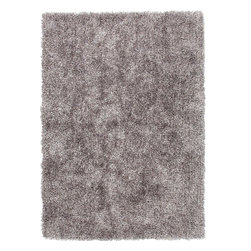 Jaipur Rugs - Shag Solid Pattern Polyester Gray/ Area Rug (5 x 7.6) - Personal expression reaches new heights with flux, a beautiful range of plush, hand-woven shag rugs of 100% polyester. This chameleon is ideal for the contemporary design lover who enjoys mixing up his or her personal space often acting as a rich background to a diverse palette of furnishings and accessories. Highly textured shag construction brings comfort underfoot while a palette of fashion forward solid hues commands attention in any room.