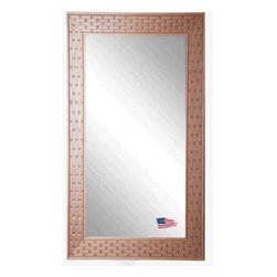 Rayne Mirrors - American Made Brown Bricks Full Length Mirror - Complete any room with this beautifully-textured decorative framed mirror.  Its unique brick design provides an eye-catching accent versatile enough to work with a wide range of decorative themes.  Vertical and horizontal hanging hardware included or perfect for leaning.  Rayne's American Made standard of quality includes; metal reinforced frame corner  support, both vertical and horizontal hanging hardware installed and a manufacturers warranty.