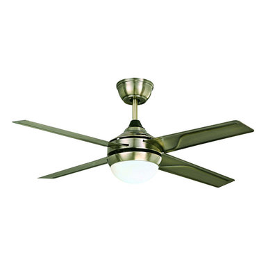 ParrotUncle - Modern Style Antique Bronze LED Ceiling Fan - Give your room décor an upgrade with this modern style ceiling fan. This simple, stylish ceiling fan comes in a lustrous antique bronze finish with four iron blades. Featuring a white opal shade and an energy efficient bulb, this great looking fan also includes a remote control for easy operation. With the dual usage of the light and the fan, this ceiling fan is a smart addition to living room, dinning room and more.