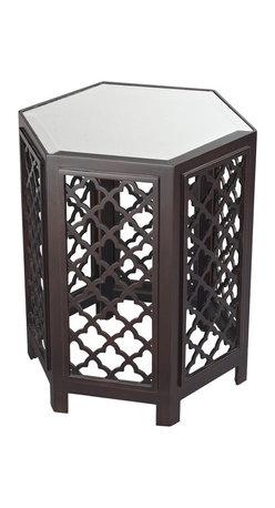 Sterling Industries - 51-10129 Marrakesh-Moorish Pattern Side Table w/ Mirrored Top - Side Table (1)