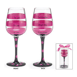 Burton & Burton - Fill to the Line Wine Glass - Witty Decorative Cup - Fun For Any Occasion - What better way to wind down your evening than with a delicious glass of wine sipped from one of our fashionable wine glasses? Or perhaps you're looking for the perfect glass for a ladies' night in. Well, look no further!