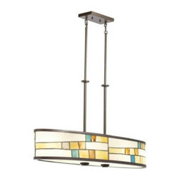 Kichler - Kichler 66144 Mihaela 4 Light Chandelier in Shadow Bronze 66144 - Mihaela 4 Light Chandelier.Bulb Type: Incandescent Bulbs Included: No Chain Length: 36 Collection: Mihaela Country of Origin: China Energy Efficient: No Fan Light Kit Included: No Finish: Shadow Bronze Height: 20-1 4 Length: 36 Maximum Wattage: 100 Number of Lights: 4 Socket 1 Base: Medium Socket 1 Max Wattage: 100 Socket Type: Medium Style: Tiffany Casual Voltage: 120 Weight: 16.45 Width: 9