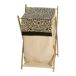 Sweet Jojo Designs - Animal Safari Hamper - The Animal Safari Hamper by Sweet Jojo Designs will add a designer's touch to any child's room. This children's laundry clothes hamper has a wooden frame, mesh liner, and a fabric cover.