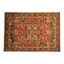 1800-Get-A-Rug - Hand Knotted Oriental Rug 100% Wool Serapi Recreation Dense Weave Sh14620 - Our fine Oriental rug collection consists of 100% genuine, hand-knotted and hand-woven rugs from Persia, China, and other areas throughout Asia. Classic, traditional, and offered in a wide range of elaborate designs, every rug is guaranteed to serve as a beautiful and striking element in any interior setting.