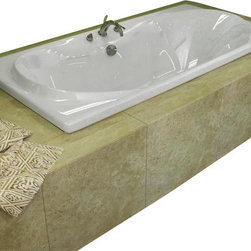 Spa World Corp - Atlantis Tubs 4272WAR Whisper 42x72x23 Inch Rectangular Air Jetted Bathtub - The interior of the Whisper is sensual and curvaceous, while maintaining a rectangular outline. The center drain allows you to lie back comfortably on either end of the tub, while the smooth curves of the Whisper series create a seat like effect for ultimate relaxation and comfort.