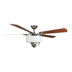 Hampton Bay - Indoor Ceiling Fans: Hampton Bay Bryson 56 in. Polished Nickel Ceiling Fan 56156 - Shop for Lighting & Fans at The Home Depot. The Hampton Bay Bryson 56 in. Polished Nickel Ceiling Fan is finished in polished nickel for a sleek, elegant look and features reversible plywood blades that offer durability and a stylish look. Operating the fan is a breeze thanks to its remote control, which includes a manual reverse function for added versatility. The fan's integrated light kit includes a white fabric shade that creates an elegant glow.