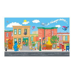 RoomMates - RoomMates Sesame Street Chair Rail Mural Multicolor - JL1213M - Shop for Wall Decorations from Hayneedle.com! About Roommates: Roommates a subsidiary of York Wallcoverings Inc creates some of the most versatile and unique wall decor you'll find. Their innovative wall decals feature a removable and endlessly reusable design allowing you to move and rearrange your decals as often as you like all without causing any damage to your walls or furnishings. This means you can apply them without worry or headache since you don't have to get the application perfect the first time. RoomMates work on any smooth surface and are particularly ideal for temporary decorating such as around the holidays. All RoomMates products are proudly made in the USA and are made from non-toxic materials so they're as safe for your kids and pets as they are for your walls.Please note this product does not ship to Pennsylvania.