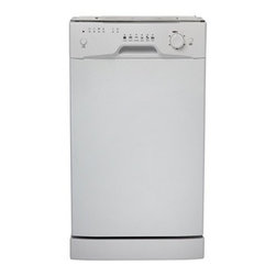 "Danby - 18"" Built-In Dishwasher, White - 18 inch built in dishwasher, 8 place setting capacity with silverware basket, Energy star compliant, 6 wash programs, Simple electronic controls, Durable stainless steel spray arm and interior, Integerated water softner system, Rinse agent dispenser, Automatic detergent dispenser, Unit dimensions (17 8/16 x 22 8/16 x 32 8/16)"