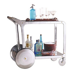 Circa Design Kitchen & Bar Rolling Cart - That is one smart bar cart! While I don't drink nearly enough to warrant a one, this cart strikes just the right balance between Mad Men and current styles, and is a beauty to look at.