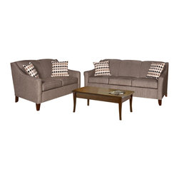 Chelsea Home Furniture - Chelsea Home 2-Piece Living Room Set in Sagittarrius Granite - Montage Pewter - Hilda 2-Piece living room set in Sagittarius Granite - Montage Pewter Pillows belongs to the Chelsea Home Furniture collection