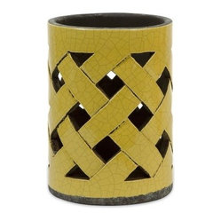 Yellow Small Morelia Cutwork Candle Lantern From Its