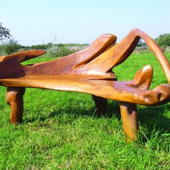 eclectic outdoor stools and benches by lovethyspace.co.uk