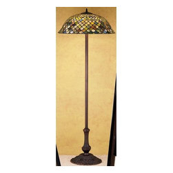 Meyda Tiffany - Meyda Tiffany 30456 Stained Glass / Tiffany Floor Lamp Tiffany Fishscal - Tiffany ReproductionsTiffany Fishscale Floor Lamp3 Medium base bulbs, 60w (max)