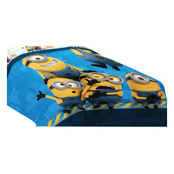 Franco Manufacturing - Despicable Me Minion Twin-Full Comforter Testing 123 Bedding - FEATURES: