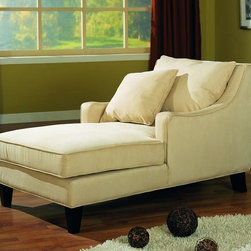 Stylish Seating - Beige Microfiber Chaise