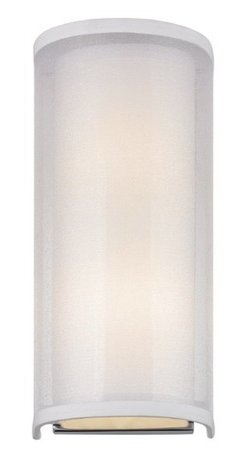 Modern Sconce Light with Silver Organza Shade -