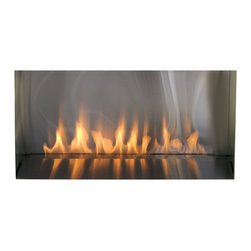 Spark Modern Fires - Spark Fire Ribbon Vent Free 3ft, W/ Screen, W/ Stainless Firebox - This clever design proves that less is more. Even glass doors have been eliminated, leaving nothing but the appearance of a pure ribbon of fire.