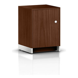 Geiger - Sled Base Pedestal - Keep your important paperwork and files stored in this stylish cabinet. The roomy top surface also serves as a convenient place to display photos or other decorative accessories.
