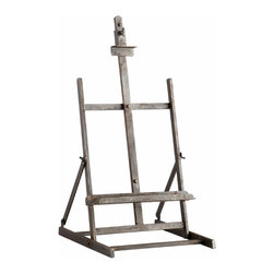 Iron and Wood Industrial Style Easel Stand - *Laramie Stand