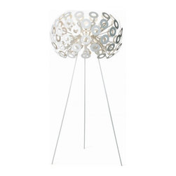 Moooi - Dandelion Floor Lamp - Go for an ultramodern look in your living room or bedroom with this dandelion-inspired floor lamp. Placed it in a corner and your room will be illuminated with dramatic light. It's a great personality piece with a signature style.