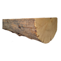 Crafted Woods - Ancient Spruce Mantel - Add this one of a kind Mantel made from Ancient Spruce to your home!  The back and top are leveled, hand sanded to preserve character and sprayed with a low sheen finish for lasting beauty.  This mantle is ready for your new fireplace!