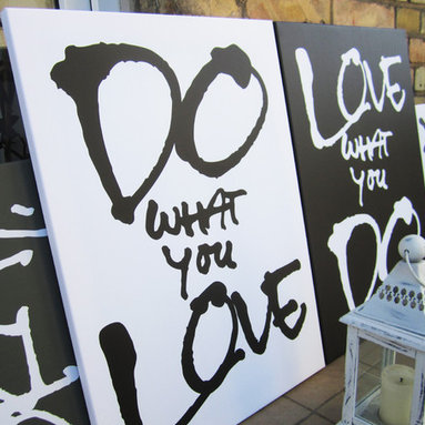 Quote on Canvas - Do what you love. Love what you do.