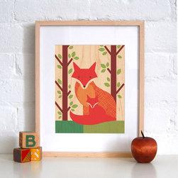 Petit Collage Fox Baby - Print on Wood - Fox Baby - Print on Wood