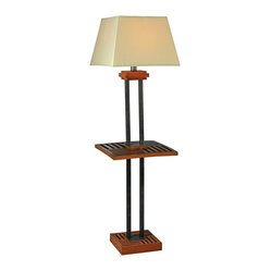 Arts and Crafts - Mission Kenroy Home Hadley Outdoor Floor Lamp with Tray Table