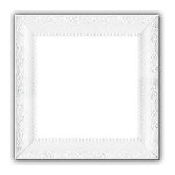 White Solid Wood Photo, Picture Frame, White, 8x8 - Solid wood photo frame designed for hanging.