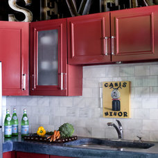 Letters above cabinets