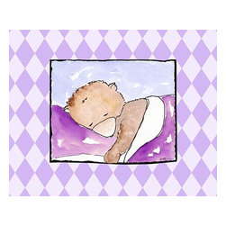 Oh How Cute Kids by Serena Bowman - Sleeping Baby I-Bear, Ready To Hang Canvas Kid's Wall Decor, 24 X 30 - Each kid is unique in his/her own way, so why shouldn't their wall decor be as well! With our extensive selection of canvas wall art for kids, from princesses to spaceships, from cowboys to traveling girls, we'll help you find that perfect piece for your special one.  Or you can fill the entire room with our imaginative art; every canvas is part of a coordinated series, an easy way to provide a complete and unified look for any room.