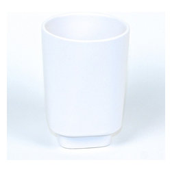 Gedy - Round Free Standing Tumbler, Satin Sky Blue Glass - Made in glass (white tumbler in ceramic). This free standing round tumbler holder (part of the Gedy Joy collection) is perfect for your contemporary bathroom. Manufactured in Italy by Gedy.