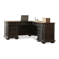 Riverside Furniture - Allegro L-Desk with Return - Return has three left drawers.