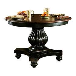 Hooker Furniture - Hooker Furniture Indigo Creek Dining Table in Rub-Through Black - Hooker Furniture - Dining Tables - 33275201