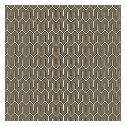 Taupe Geometric Cotton Sateen Fabric - Modern maze of taupe & white on soft cotton sateen.Recover your chair. Upholster a wall. Create a framed piece of art. Sew your own home accent. Whatever your decorating project, Loom's gorgeous, designer fabrics by the yard are up to the challenge!