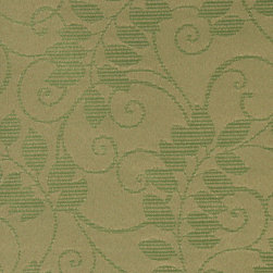 Olive Green Vines And Leaves Outdoor Indoor Marine Upholstery Fabric By The Yard - This material is an upholstery grade outdoor and indoor fabric. It is stain, water, mildew, bacteria and fading resistant. It is also Scotchgarded for further stain resistance and durability. This material is woven for superior appearance.