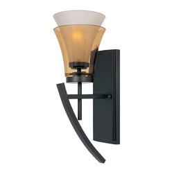 Designers Fountain - Designers Fountain 83101 Majorca Wall Sconce in oil-rubbed bronze finish - 83101 - Shop for Wall Mounted Lighting and Sconces from Hayneedle.com! With its bold lines subtle curves and luminous layers of glass the Designers Fountain 83101 Majorca Wall Sconce in Oil Rubbed Bronze Finish offers an intriguing take on modern aesthetics. Finished in oil rubbed bronze with clear champagne glass on the outside and frosted white glass on the inside this beautiful wall sconce is big on style as well as practical function. A charming addition to any wall of your house this fixture uses one 100-watt incandescent medium base bulb (not included) to emit a warm glow that's both ambient and functional. It is UL-listed for damp locations so it makes a great choice for your bath or vanity area.About Designers FountainHeadquartered in sunny Los Angeles Designers Fountain lets you show off your creative side. Indulge yourself and your home with a range of lighting styles from contemporary to classic each crafted with care from high-quality materials. Designers Fountain supplies lighting fixtures to over 1 200 authorized North American dealers and sources designs from across the world. Get quality lighting that enhances your home while impressing you with its affordable price... only from Designers Fountain.