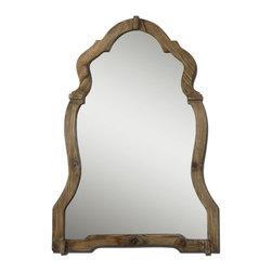 Grace Feyock - Grace Feyock Agustin Framed Wall Mirror X-23670 - This ornate mirror features a light, walnut stained wood frame with burnished details.