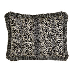 Dian Austin Couture Home - Standard Ombre Jaguar Sham with Fringe - PLATINUM (20X26) - Dian Austin Couture HomeStandard Ombre Jaguar Sham with FringeDesigner About Dian Austin Couture Home:Taking inspiration from fashion's most famous houses of haute couture the Dian Austin Couture Home collection features luxurious bed linens and window treatments with a high level of attention to detail. Acclaimed home designer Dian Austin introduced the collection in 2006 and seeks out extraordinary textiles from around the world crafting each piece with local California artisans.