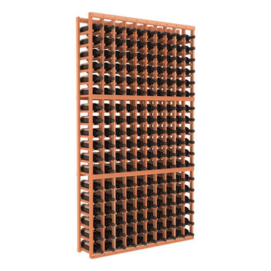 Wine Racks America - 10 Column Standard Wine Cellar Kit in Redwood, (Unstained) - As a serious wine collector, you know it's time to upgrade your racking system. This impressively solid wooden cellar, available in high grade pine or redwood, is guaranteed to last and beautiful to behold. Salut!