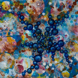 Cell No.20 (Original) by Angela Canada Hopkins - Abstract representation of a cellular structure.
