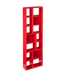 Holly & Martin - Holly and Martin Higzy Red-orange Shelf - This upright shelf is comprised of display cubes that vary in size and offer ample storage space for all your treasures. The red-orange finish of this playful yet functional shelf makes a statement in any room.