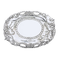 Arthur Court - Horse Oval Tray - Why rein in your love of horses when you can display it in your home? A herd of beautiful beasts in cast aluminum will make a special accent for a shelf, sideboard or cabinet.